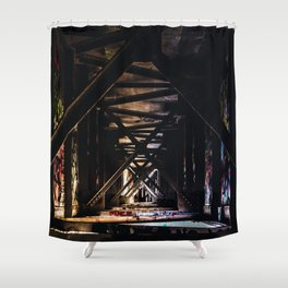 An Artist's Wonderful Bridge Shower Curtain