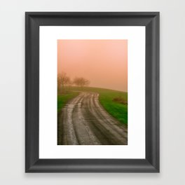 She Was in Love With Her Rose Colored Glasses Framed Art Print