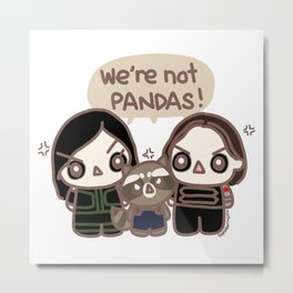 We're not pandas Metal Print