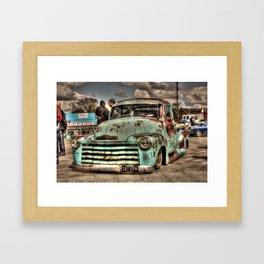 Rusty Chevrolet HDR Framed Art Print