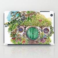 hobbit iPad Cases featuring Hobbit hole by Kris-Tea Books