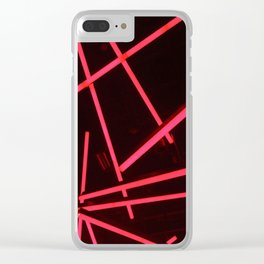 PINK NEON Clear iPhone Case