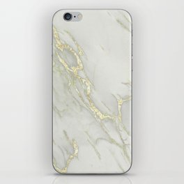 Marble Love Gold Metallic iPhone Skin