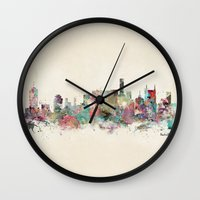 tennessee Wall Clocks featuring music city tennessee by bri.buckley