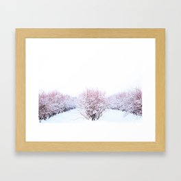 Field in the Snow2 Framed Art Print