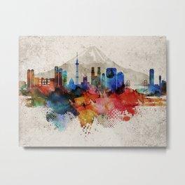Tokyo Abstract Skyline Metal Print