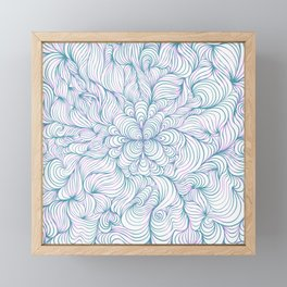 LineArt (White) Framed Mini Art Print