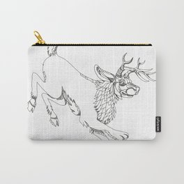 Jackalope Hopping Doodle Art Carry-All Pouch