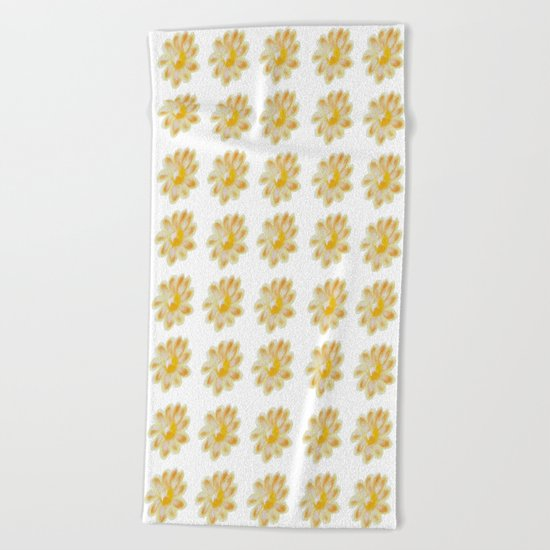 Golden Daisy Beach Towel