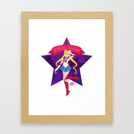 Pretty Soldier Framed Art Print