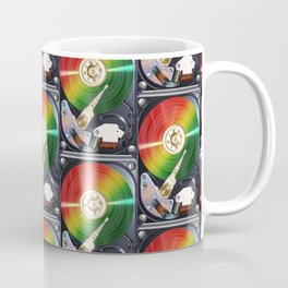 Computer Hard Drive Collage Coffee Mug