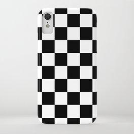 Black & White Checker Checkerboard Checkers iPhone Case