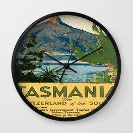 Vintage poster - Tasmania Wall Clock