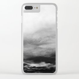 WHITE & BLACK TOUCHING #1 #abstract #decor #art #society6 Clear iPhone Case