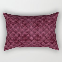 Quilted Maroon Velvety Pattern Rectangular Pillow