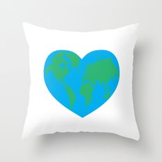 Earth Love Throw Pillow