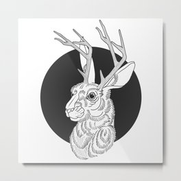 The Jackelope Metal Print