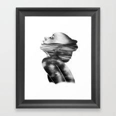 Dissolve // Illustration Framed Art Print