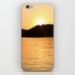 Sun Sets On The Lake iPhone Skin