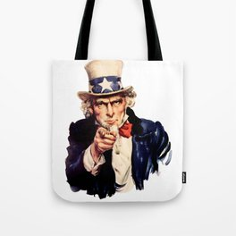Uncle Sam Pointing Finger Tote Bag