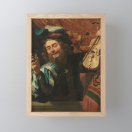 The Merry Fiddler, Gerard van Honthorst, 1623 Framed Mini Art Print