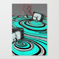 Lake of Static Canvas Print