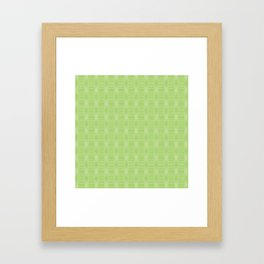 hopscotch-hex bright green Framed Art Print