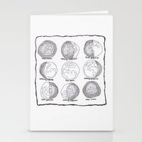 moon phases Stationery Cards featuring Moon Phases by Emilie Darlington