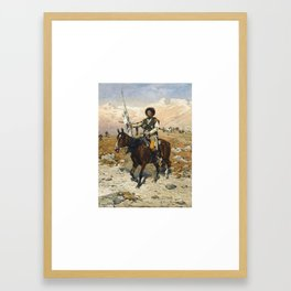 Alfred von Wierusz-Kowalski 1849-1915 , A CAUCASIAN CHIEF Framed Art Print