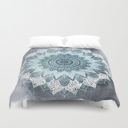 BOHOCHIC MANDALA IN BLUE Duvet Cover