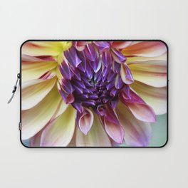 Purple and Yellow Dahlia Laptop Sleeve