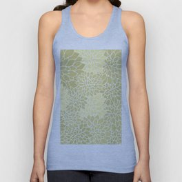 Beige Yellow Dahlias Unisex Tank Top