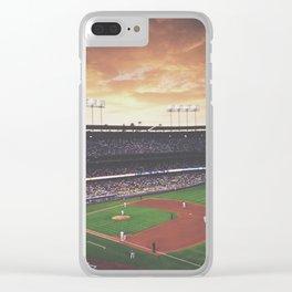 Dodger Stadium Clear iPhone Case
