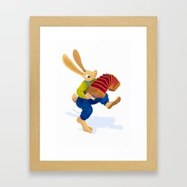 Rabbit with an accordion Framed Art Print