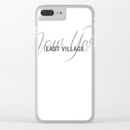 East Village New York Clear iPhone Case