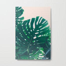 Tropical Monstera Metal Print