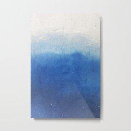Blue-White Wall Background Metal Print