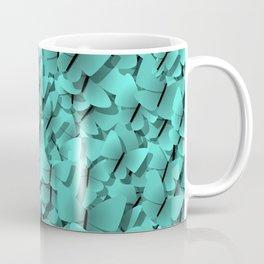 teal butterflies Coffee Mug