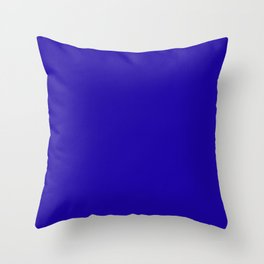 Neon Blue - solid color Throw Pillow