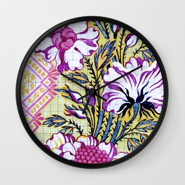 Painted Antique French Pattern Recolored Wall Clock