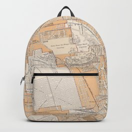 Vintage Map of Montreal Canada (1915) Backpack