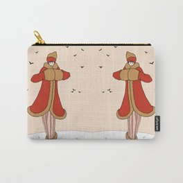 Art Deco Lady: BERNADETTE in Red and Gold Carry-All Pouch