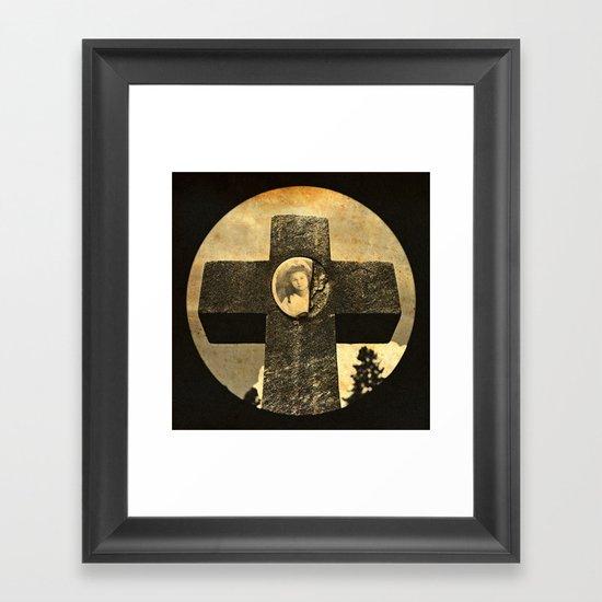 Jennie's cross Framed Art Print