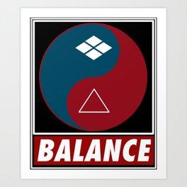 Samurai Balance Art Print