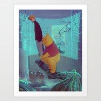 Secret Agent Calvin Hobbes: Meet Mr. Robin Art Print