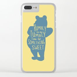 Rumbly in my Tumbly Time for Something Sweet - Pooh inspired Print Clear iPhone Case