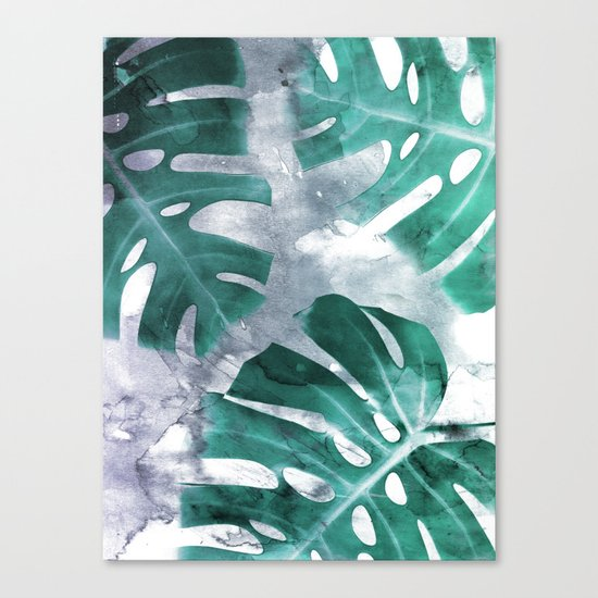 Monstera Theme 1 Canvas Print