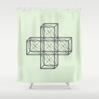 positive Shower Curtains featuring Positive Sign  by Dizzy Moments