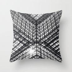 Metal and Glass Throw Pillow