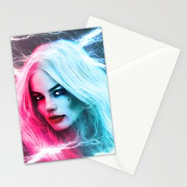 The creation of Harley Quinn - Margot Robbie Stationery Cards